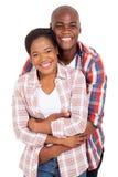 Embrassement de couples d'afro-américain Images stock