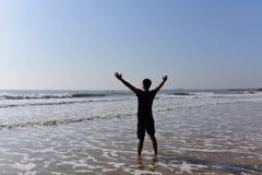Embrassement de la mer Photos libres de droits