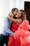 Embrassement des couples Photos stock