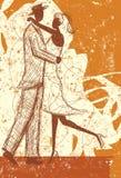Embrassement du croquis de couples Photos stock