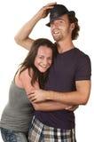Embrassement heureux de couples Image stock