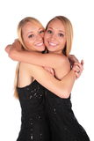 Embrassement jumel de filles Image libre de droits