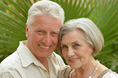 Embrassement plus âgé heureux de couples Images stock