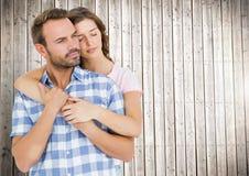 Embrassement romantique de couples Photos stock