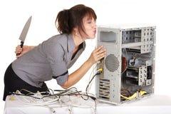 Embrassez et détruisez mon ordinateur Photos stock