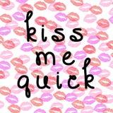 Embrassez-moi papier peint rapide de fond Photo stock