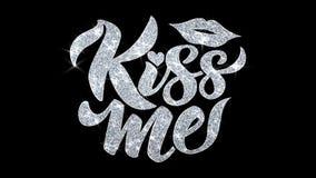 Embrassez-moi texte de clignotement souhaite des salutations de particules, invitation, fond de c?l?bration illustration de vecteur