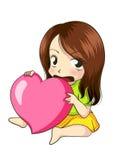 Embrassez mon coeur Photo stock