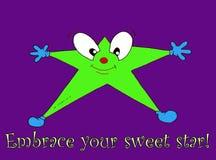 Embrassez votre étoile douce Photo stock