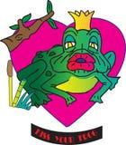 Embrassez votre grenouille illustration stock
