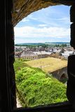Embrasure av slotten Chateau de Sedan royaltyfria bilder