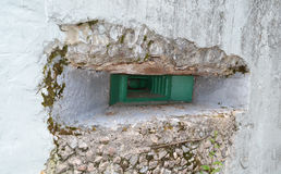 Embrasure of military bunker Royalty Free Stock Image