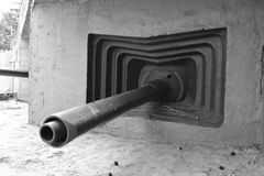 Embrasure of military bunker Stock Images