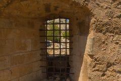Embrasuren i Fortezza, Rethymno, Grekland Royaltyfria Bilder