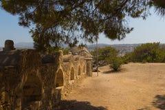 Embrasures i Fortezza av Rethymno Royaltyfria Bilder