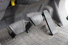 Embrayage, frein et accélérateur de pédale Photos stock
