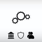 Embraye l'icône, illustration de vecteur Style plat de conception Photo libre de droits