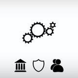 Embraye l'icône, illustration de vecteur Style plat de conception Image libre de droits
