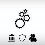 Embraye l'icône, illustration de vecteur Style plat de conception Images libres de droits