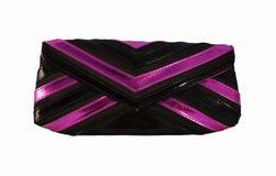 Embreagem preta & violeta Foto de Stock