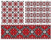 Embrodery velho do ucraniano da textura ilustração stock