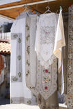 Embroided greek design Stock Image