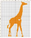 Embroider animal giraffe for an embroidery hands a cross Royalty Free Stock Photography