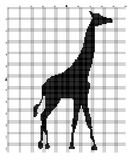 Embroider animal giraffe for an embroidery hands a cross Stock Photo