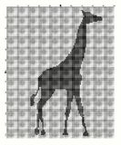 Embroider animal giraffe for an embroidery hands a cross Royalty Free Stock Image