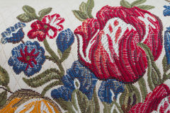 Embroider flower Stock Photos
