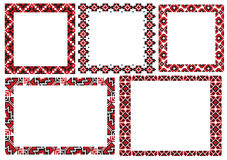 Embroider frame. There are a scheme of ukrainian frame pattern for embroidery Royalty Free Stock Photos