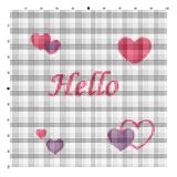 Embroider Hello for an embroidery hands a cross Royalty Free Stock Image