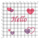 Embroider Hello for an embroidery hands a cross Royalty Free Stock Photos