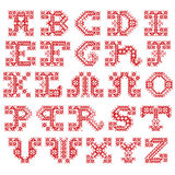 Embroidered alphabet Stock Images