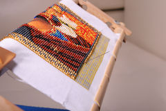 Embroidered in beads picture Stock Images