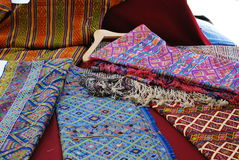 Embroidered Bhutanese Textiles Royalty Free Stock Photos