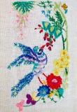 Embroidered  bird Stock Photos
