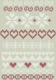 Embroidered border decorative elements set Royalty Free Stock Photography
