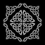 Embroidered Celtic knot pattern. Embroidery traditional necklace ornament. fashionable design. neckline  Stock Images