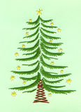 Embroidered Christmas card Royalty Free Stock Photography