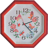 Embroidered clock Royalty Free Stock Photo