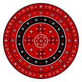Embroidered cross-stitch round pattern. On white background vector illustration