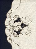 Embroidered doily stock image