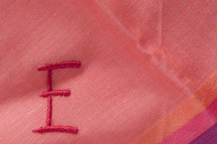 Embroidered E Royalty Free Stock Photo