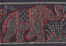 Embroidered elephant Royalty Free Stock Photo