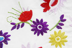 Embroidered fabric texture Stock Photography