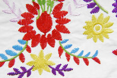 Embroidered fabric texture Stock Photo