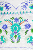 Embroidered fabric texture Royalty Free Stock Images