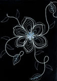 Embroidered flower. Stock Photos