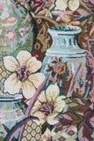 Embroidered flower arrangement Stock Photos